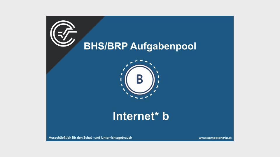 Internet Bifie Aufgabenpool angewandte Mathematik BHS Teil-B Cluster Zentralmatura Mathematik