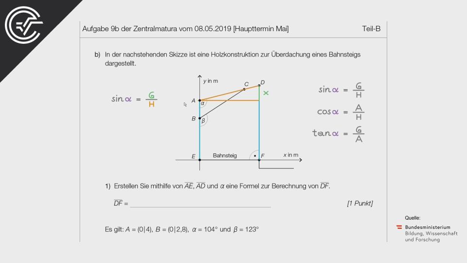 Bahnsteige b Bifie Aufgabenpool angewandte Mathematik BHS Teil-B Cluster Zentralmatura Mathematik