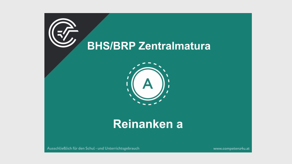 A_029 Reinanken Zentralmatura Mathematik BMB Aufgabenpool BHS BRP Teil A Bifie
