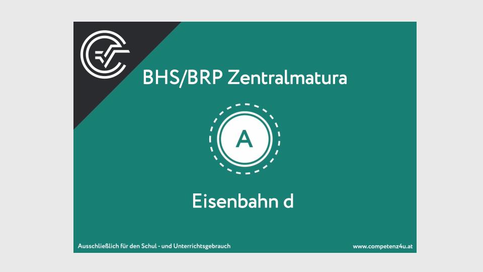 Eisenbahn Zentralmatura Mathematik BMB Aufgabenpool BHS BRP Teil A Bifie