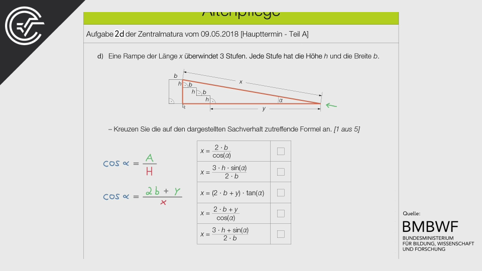 Altenpflege Zentralmatura Mathematik BMB Aufgabenpool BHS BRP Teil A Bifie