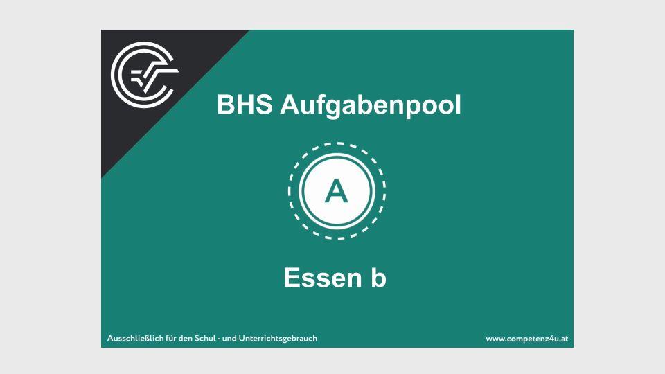 A_090 Essen Zentralmatura Mathematik BMB Aufgabenpool BHS Teil A Bifie  Bundesministerium für Bildung