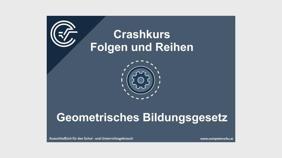 Folgen und Reihen Crashkurs