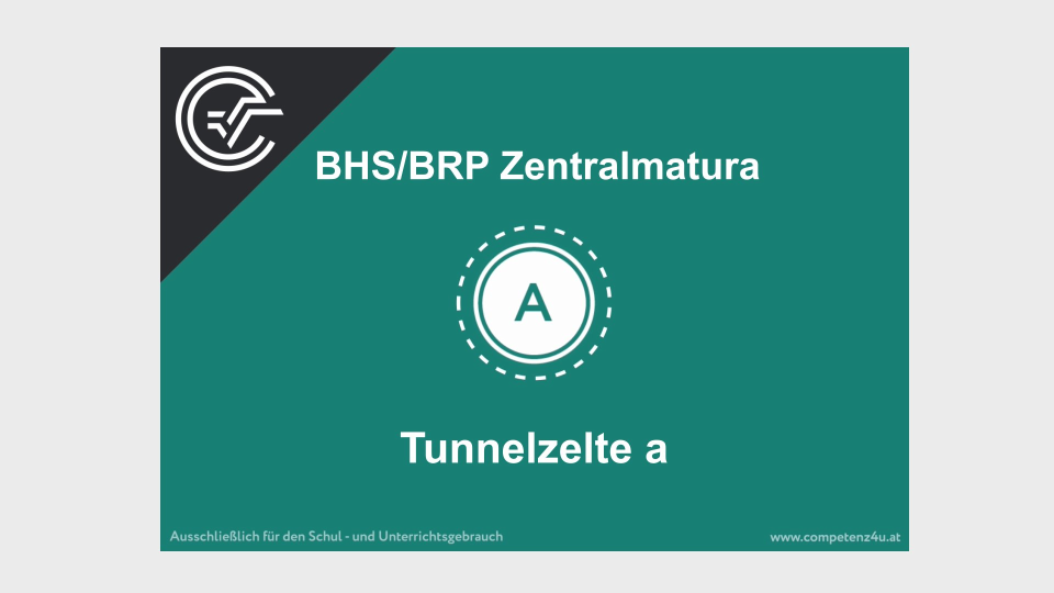 A_131 Tunnelzelte Zentralmatura Mathematik BMB Aufgabenpool BHS BRP Teil A Bifie