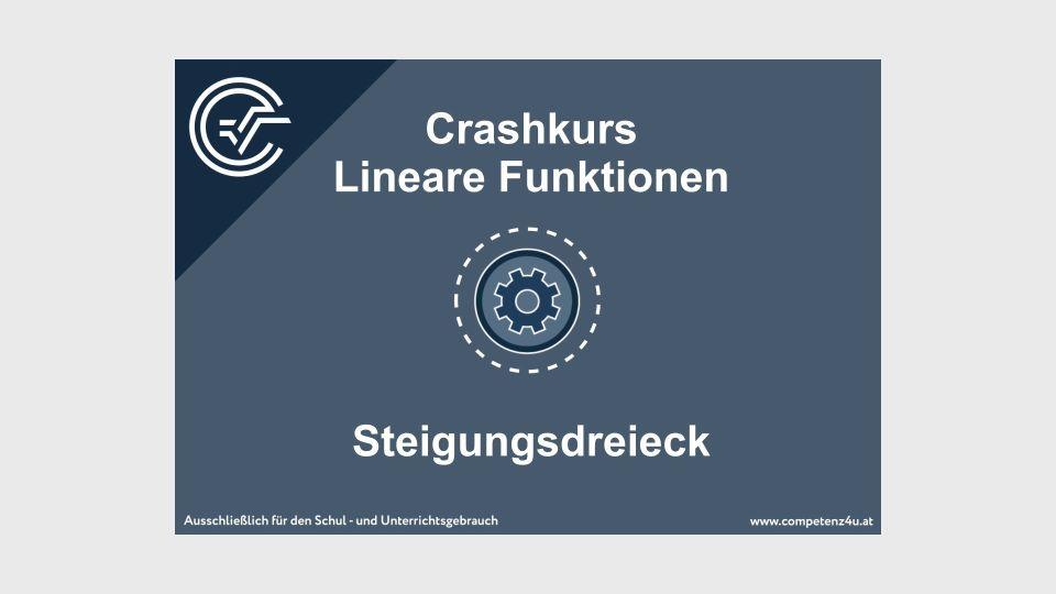 Lineare Funktionen Crashkurs