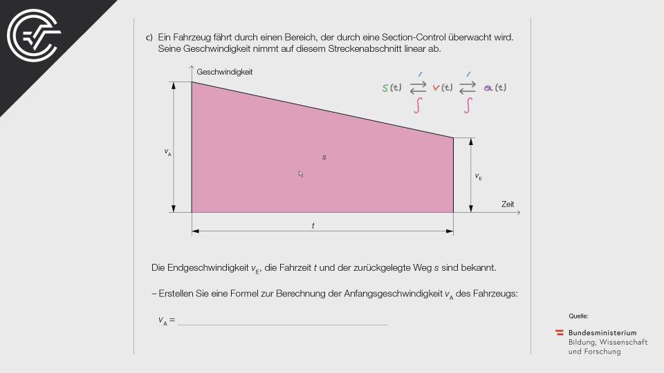A_226 Section Control Zentralmatura Mathematik BMB Aufgabenpool BHS Teil A Bifie  Bundesministerium für Bildung