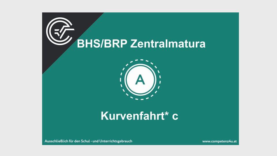 Kurvenfahrt Zentralmatura Mathematik BMB Aufgabenpool BHS BRP Teil A Bifie