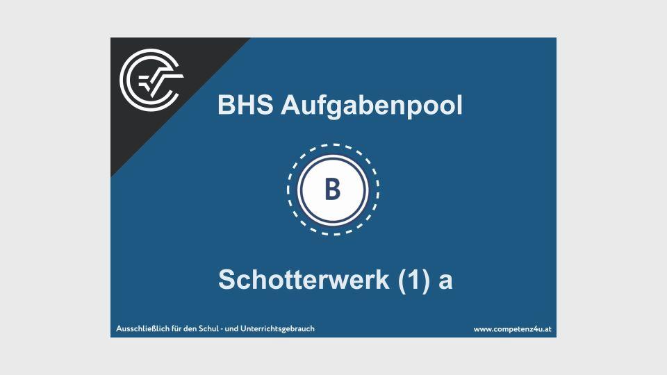 B_118 Schotterwerk Bifie Aufgabenpool angewandte Mathematik BHS Teil-B Cluster Zentralmatura Mathematik
