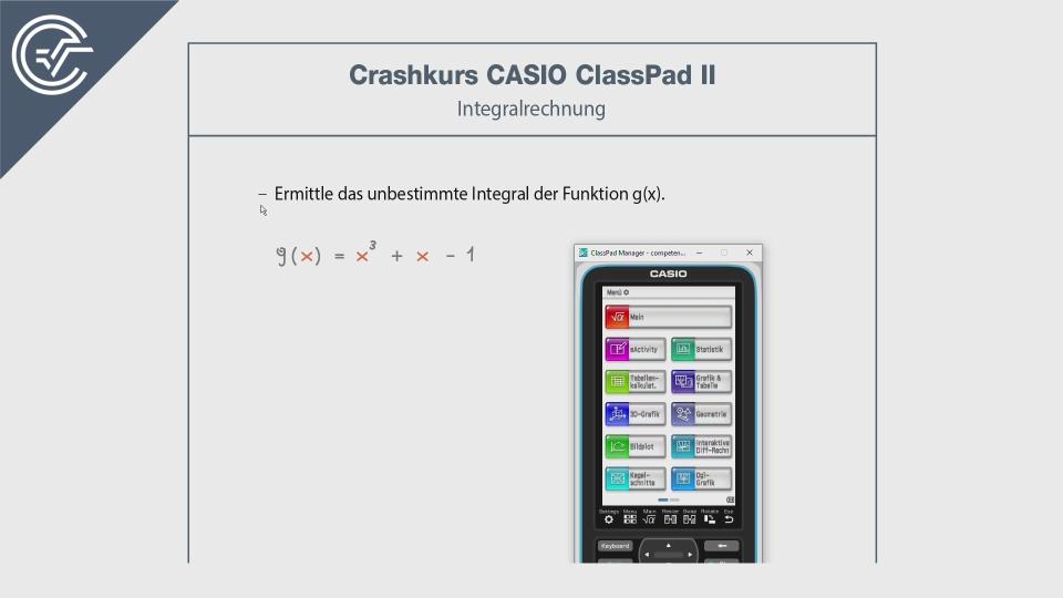 integralrechnung CASIO ClassPad 2 II Crashkurs BMB Aufgabenpool Zentralmatura Mathematik