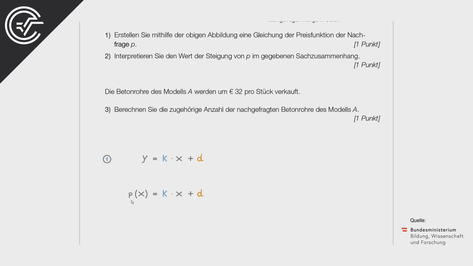 Betonrohre a Bifie Aufgabenpool angewandte Mathematik BHS Teil-B Cluster Zentralmatura Mathematik