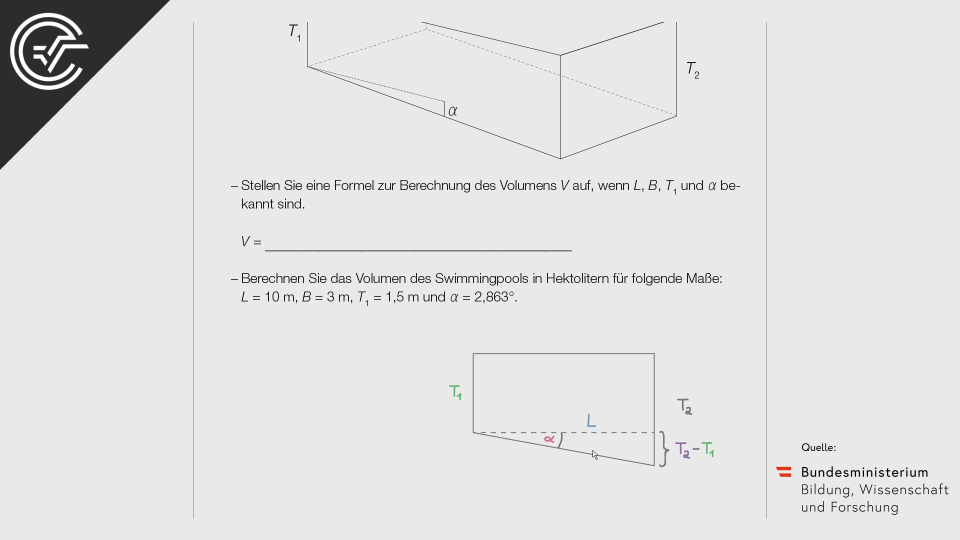 A_175 Swimmingpool Zentralmatura Mathematik BMB Aufgabenpool BHS Teil A Bifie  Bundesministerium für Bildung