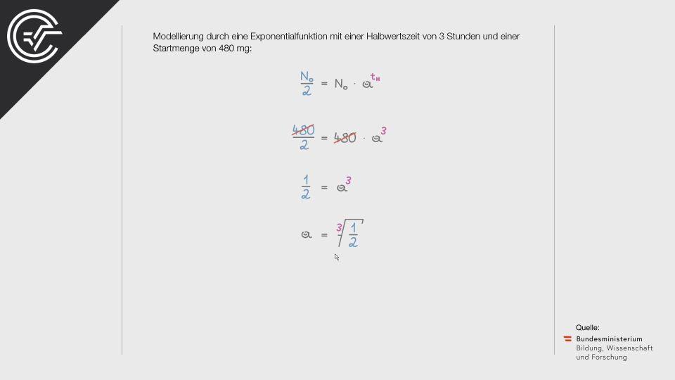 Medikamentenabbau Zentralmatura Mathematik BMB Aufgabenpool BHS BRP Teil A Bifie