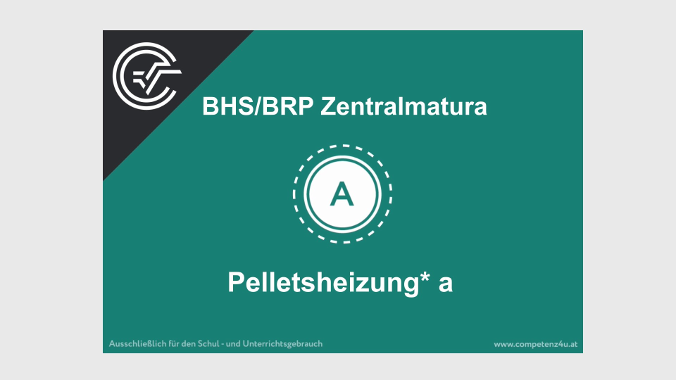 Pelletsheizung Zentralmatura Mathematik BMB Aufgabenpool BHS BRP Teil A Bifie