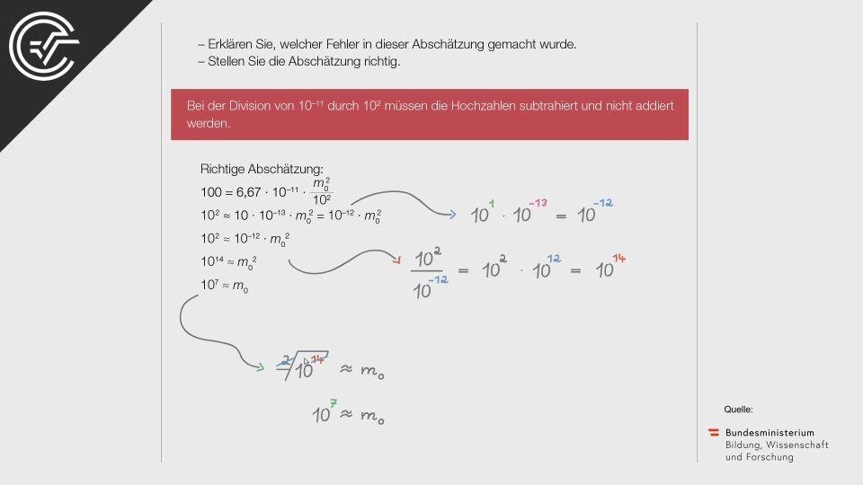 A_168 Gravitation Zentralmatura Mathematik BMB Aufgabenpool BHS Teil A Bifie  Bundesministerium für Bildung