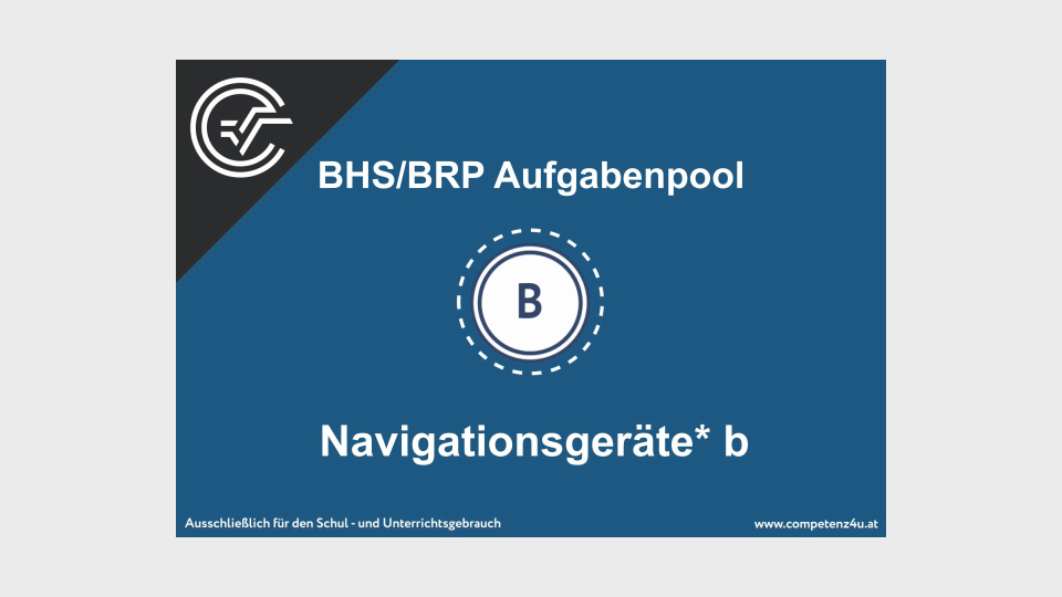 Navigationsgeräte Bifie Aufgabenpool angewandte Mathematik BHS Teil-B Cluster Zentralmatura Mathematik