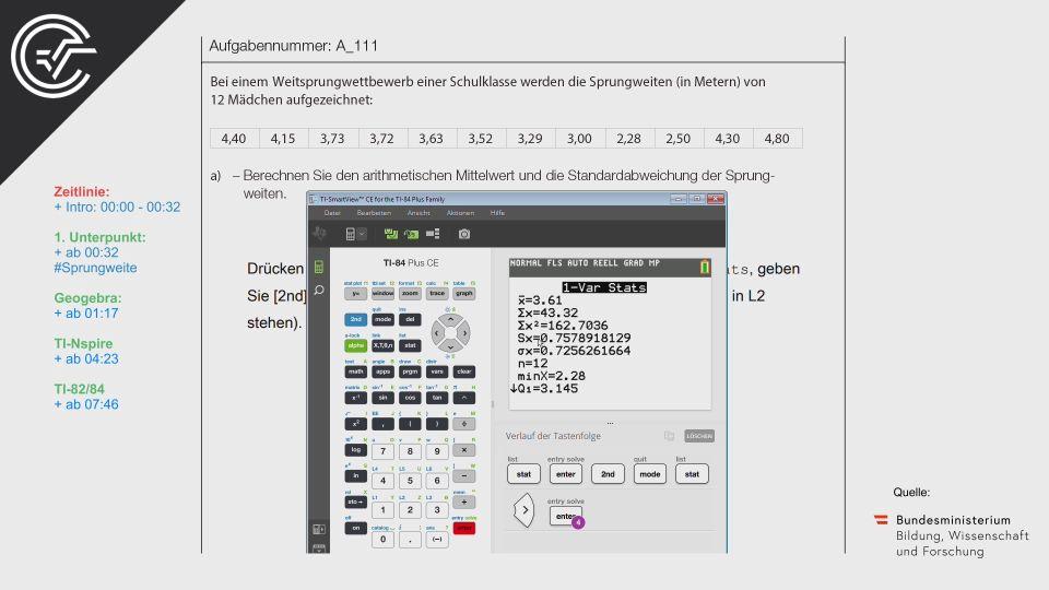A_111 Weitsprung Zentralmatura Mathematik BMB Aufgabenpool BHS Teil A Bifie  Bundesministerium für Bildung