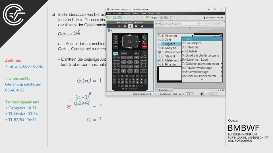 Die Genussformel Zentralmatura Mathematik BMB Aufgabenpool BHS BRP Teil A Bifie