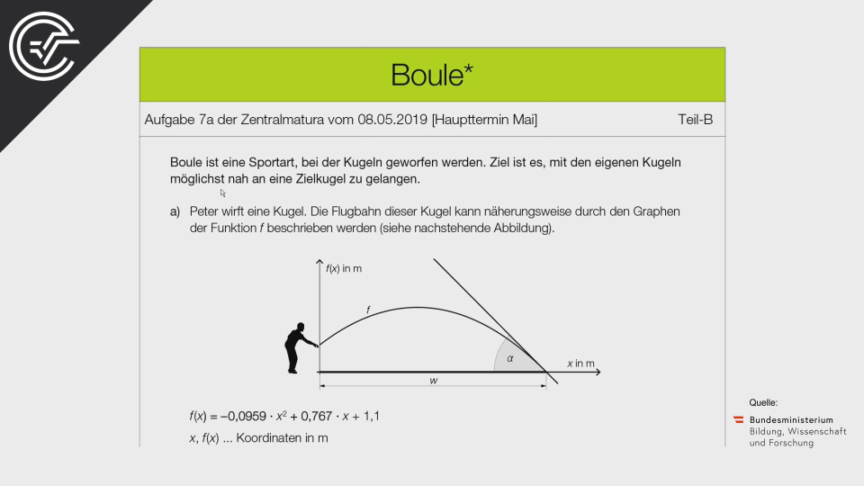 Boule a Bifie Aufgabenpool angewandte Mathematik BHS Teil-B Cluster Zentralmatura Mathematik