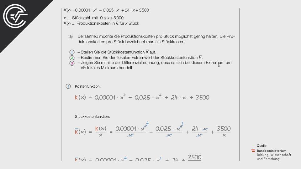 BMB Bifie Aufgabenpool angewandte Mathematik BHS Teil-B Cluster Zentralmatura Mathematik