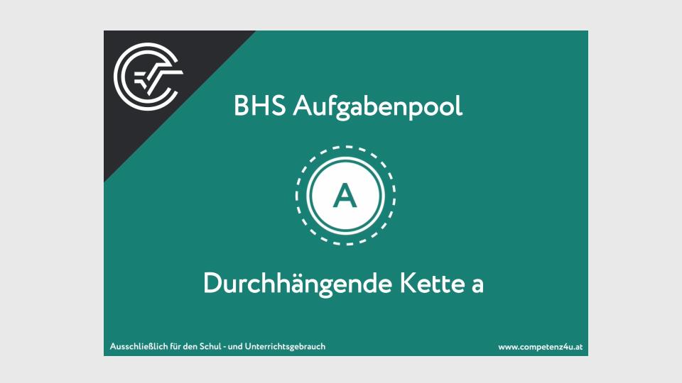 A_214 Durchhängende Kette Zentralmatura Mathematik BMB Aufgabenpool BHS Teil A Bifie  Bundesministerium für Bildung