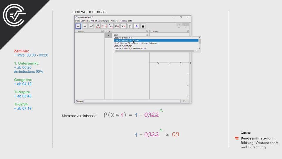 A_023 Brieflos Zentralmatura Mathematik BMB Aufgabenpool BHS Teil A Bifie  Bundesministerium für Bildung