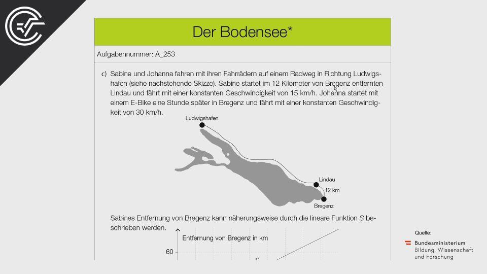 A_253 Der Bodensee Zentralmatura Mathematik BMB Aufgabenpool BHS Teil A Bifie  Bundesministerium für Bildung