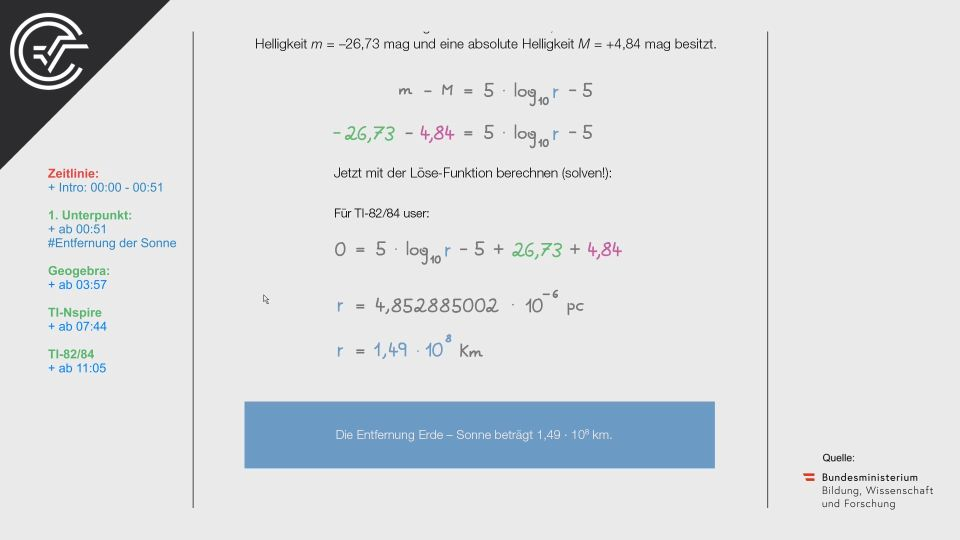 A_062 Die Sonne Zentralmatura Mathematik BMB Aufgabenpool BHS Teil A Bifie  Bundesministerium für Bildung