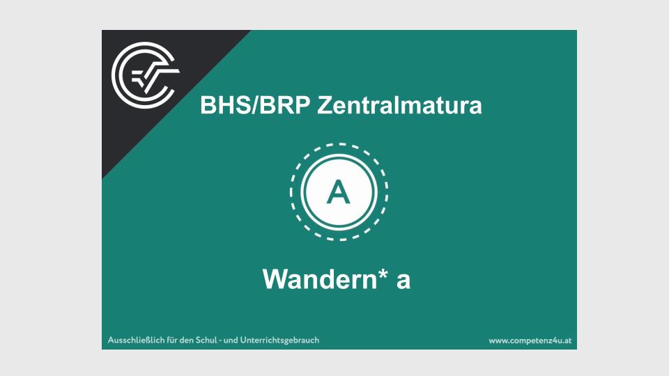 Wandern Zentralmatura Mathematik BMB Aufgabenpool BHS BRP Teil A Bifie