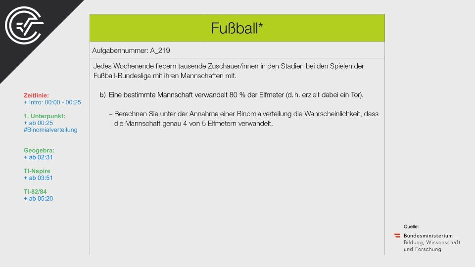 A_219 Fußball Zentralmatura Mathematik BMB Aufgabenpool BHS Teil A Bifie  Bundesministerium für Bildung