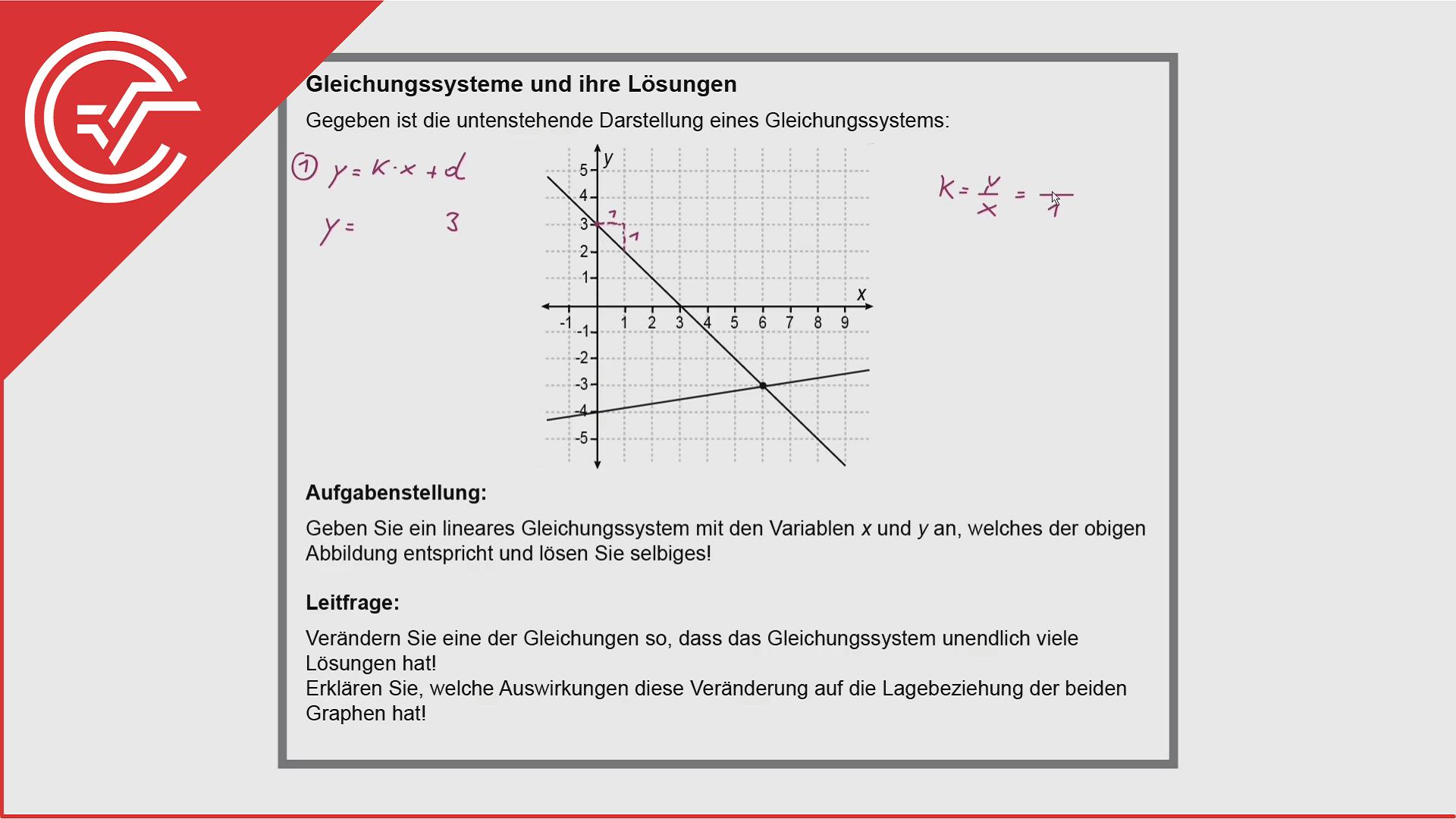 Kompensationsprüfung Aufgabe 1 - Gleichungssystem lösen