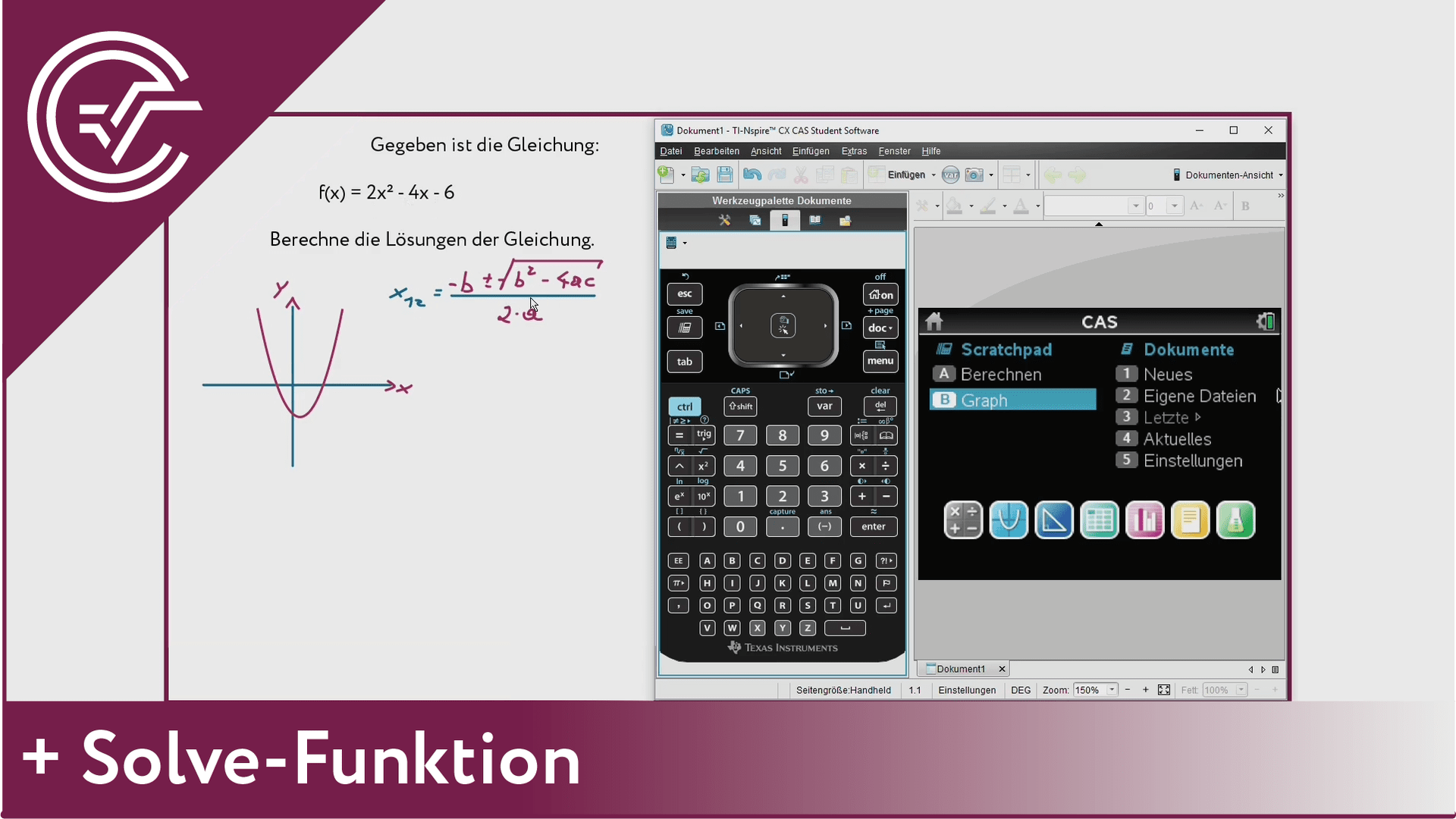1. Solve Funktion [TI-Nspire]