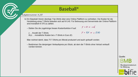 A_237 Baseball b [Kostenfunktion]