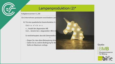 A_258 Lampenproduktion (2)* b [Extremstellen]