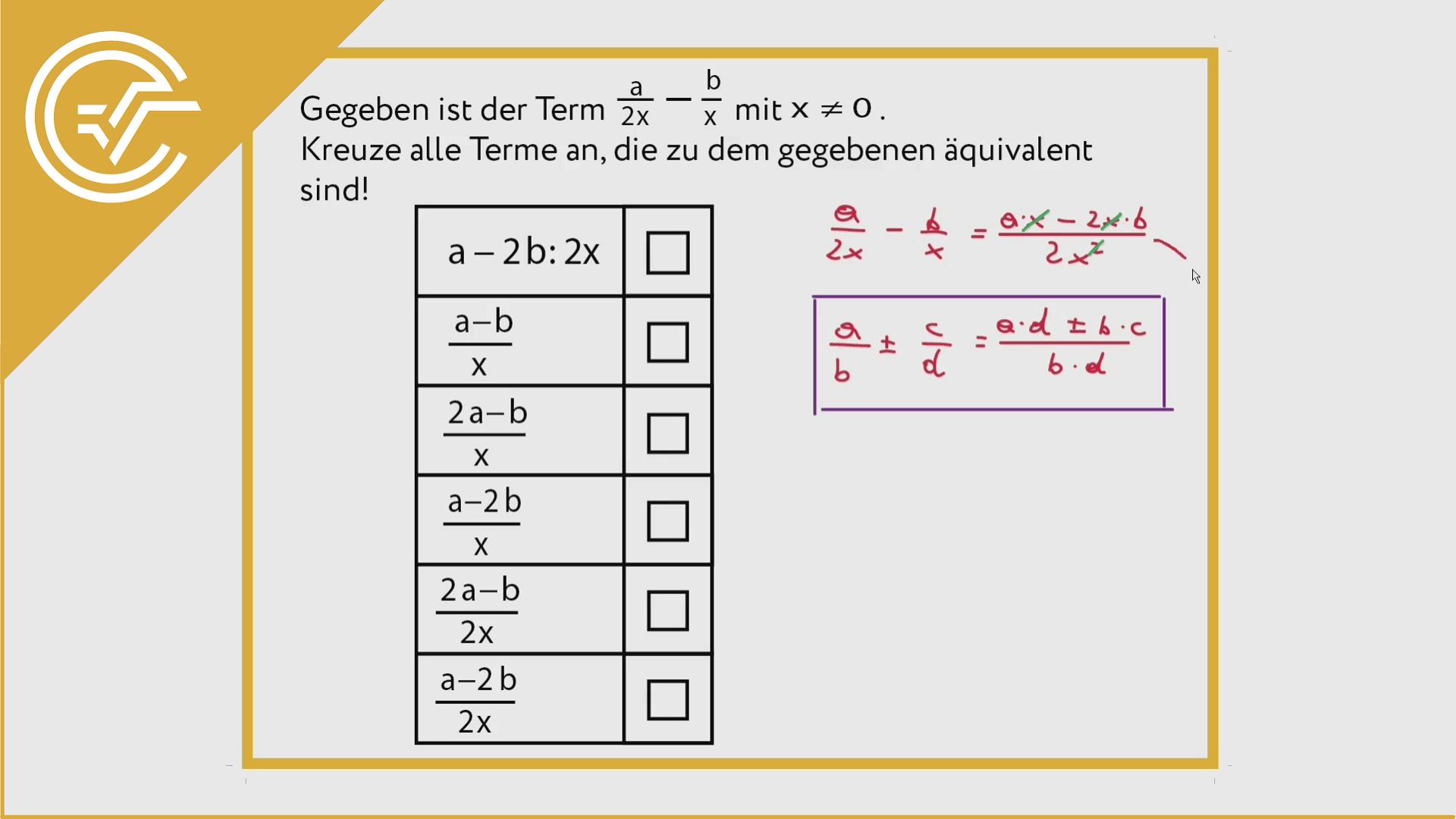 AG 1.2 - Äquivalenz 1