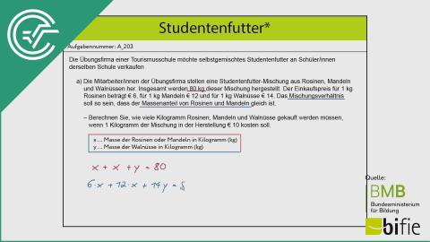 A_203 Studentenfutter a [Gleichungssysteme]