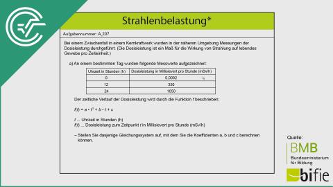 A_207 Strahlenbelastung a [Gleichungssysteme]