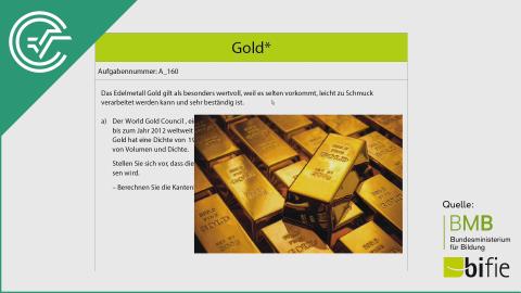 A_160 Gold* a [Gleichung Umformen]