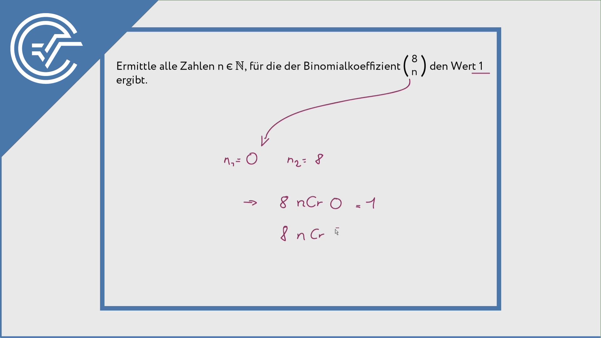 Binomialkoeffizient verstehen 2