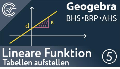 5. Lineare Funktionen - Tabellen