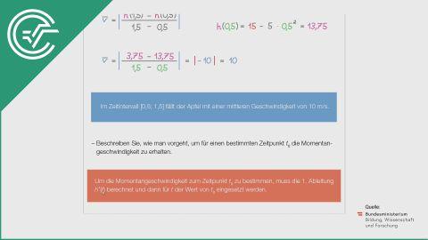 A_181 Freier Fall eines Apfels b [Differenzenquotient]
