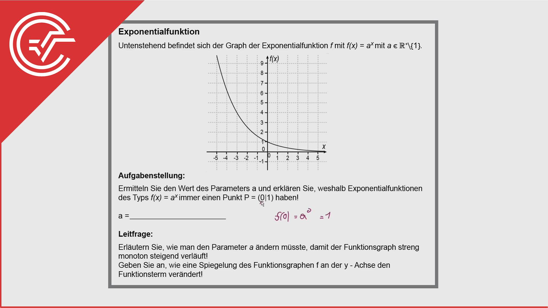 Kompensationsprüfung Aufgabe 3 - Exponentialgleichungen