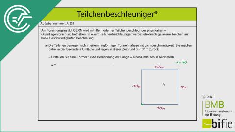 A_239 Teilchenbeschleuniger a [Formel aufstellen]
