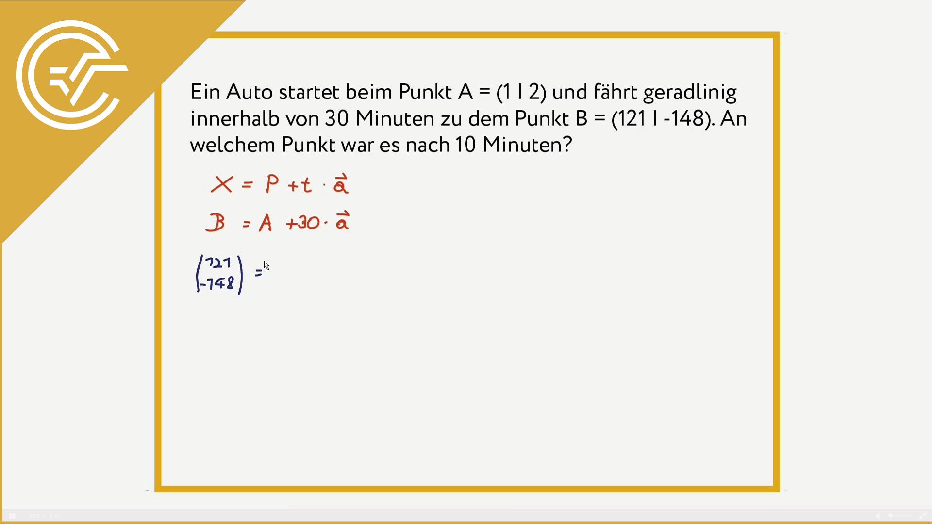 AG 3.2 - Bewegungen mit Parameterdarstellung 2