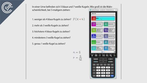 11. Binomialverteilung 2 [ClassPad II]