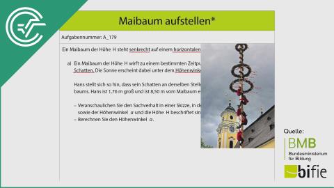 A_179 Maibaum aufstellen a [Trigonometrie]