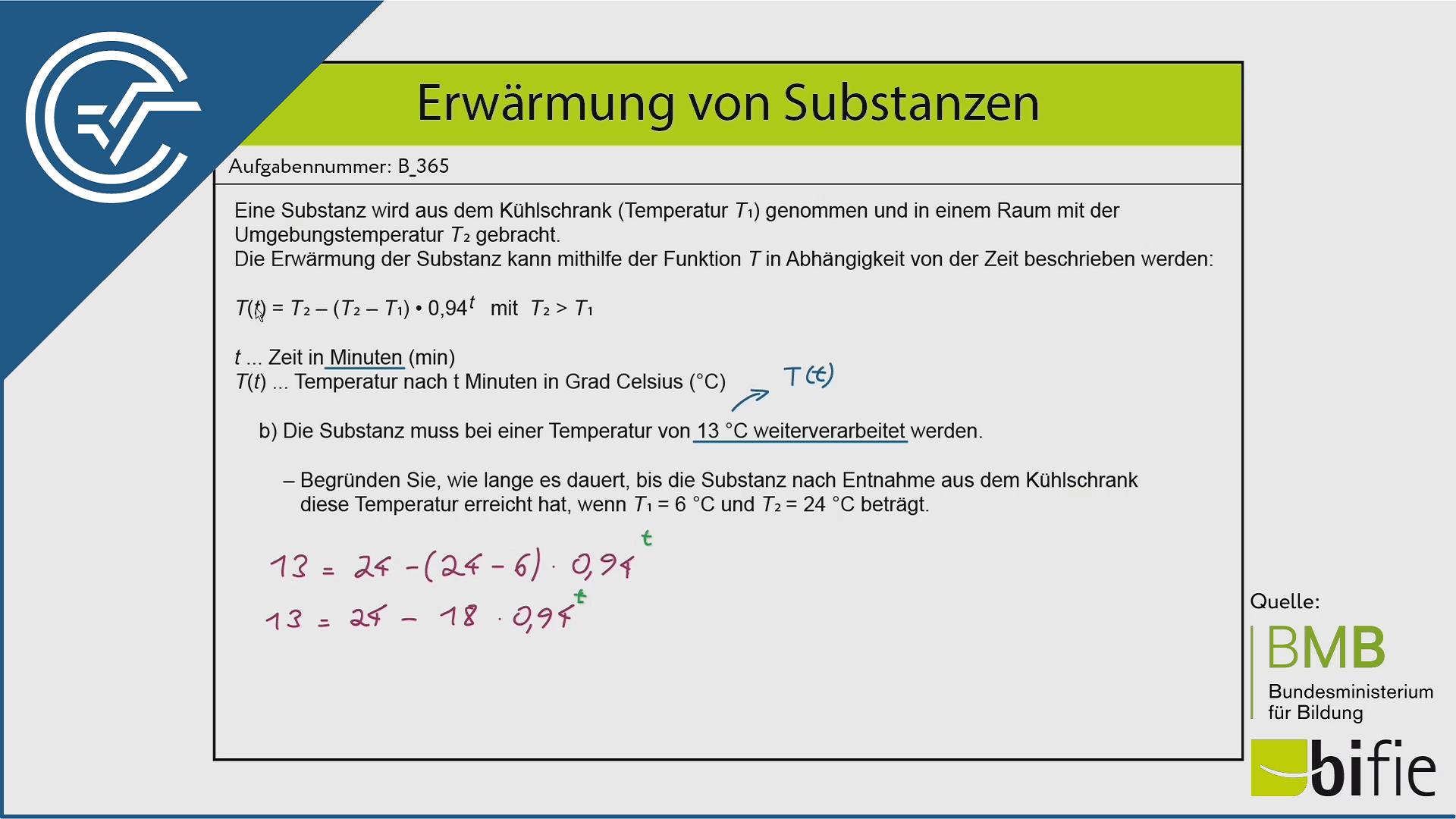 B_365 Erwärmung von Substanzen b [Logarithmus]