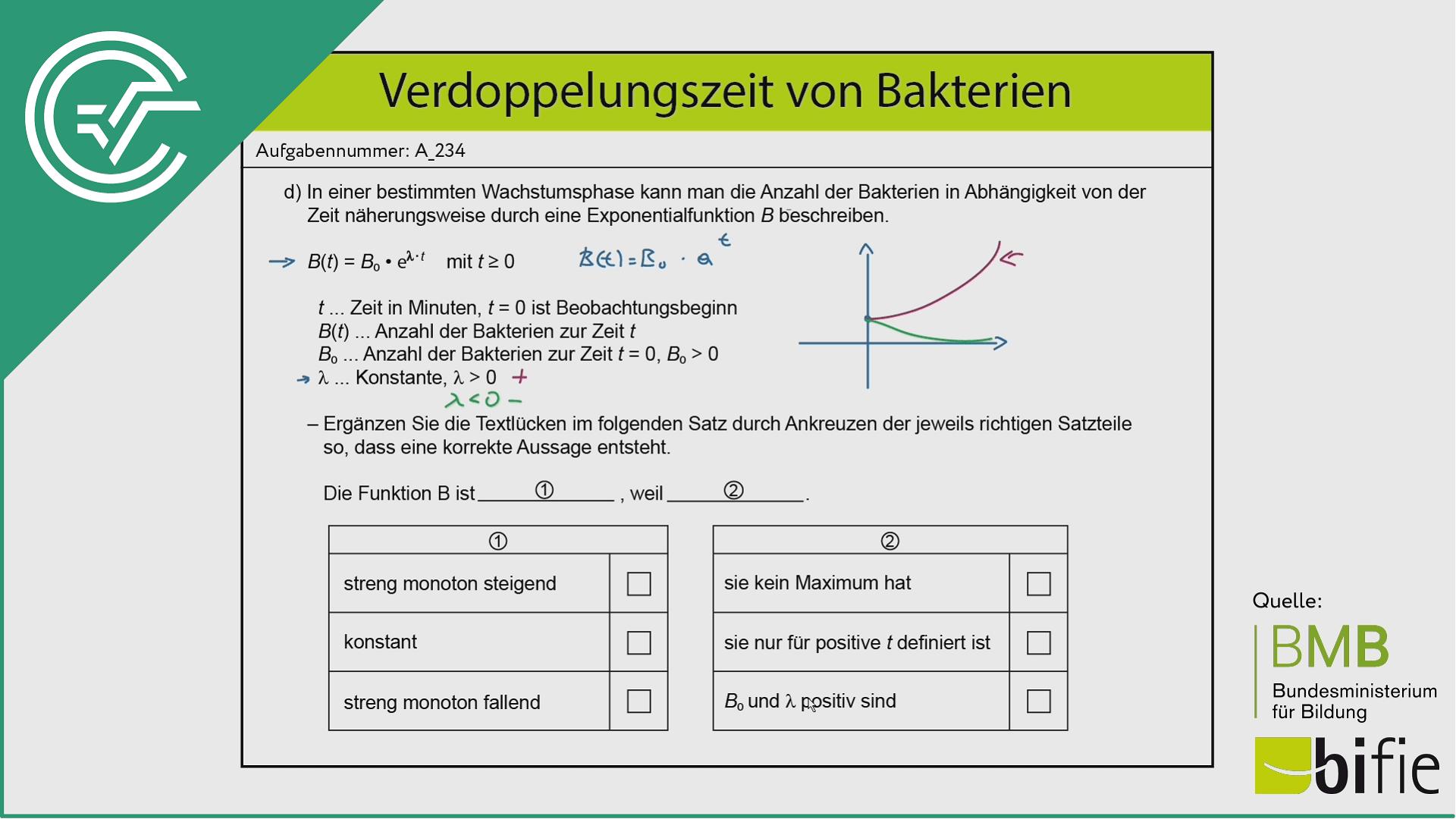 A_234 Verdopplungszeit Bakterien d [Lambda]