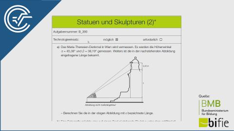 B_390 Statuen und Skulpturen (2) a [Trigonometrie Sinussatz]