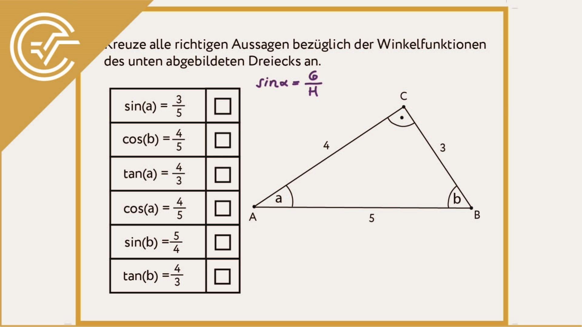 AG 4.1 - Rechtwinkeliges Dreieck 1