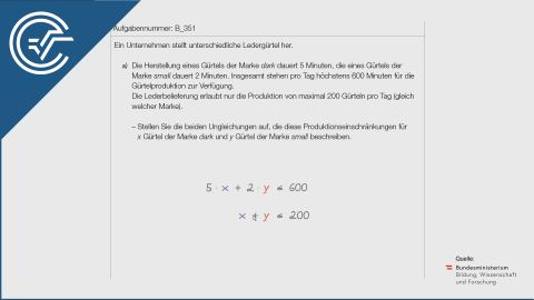 B_351 Gürtelproduktion a [Ungleichungssysteme]